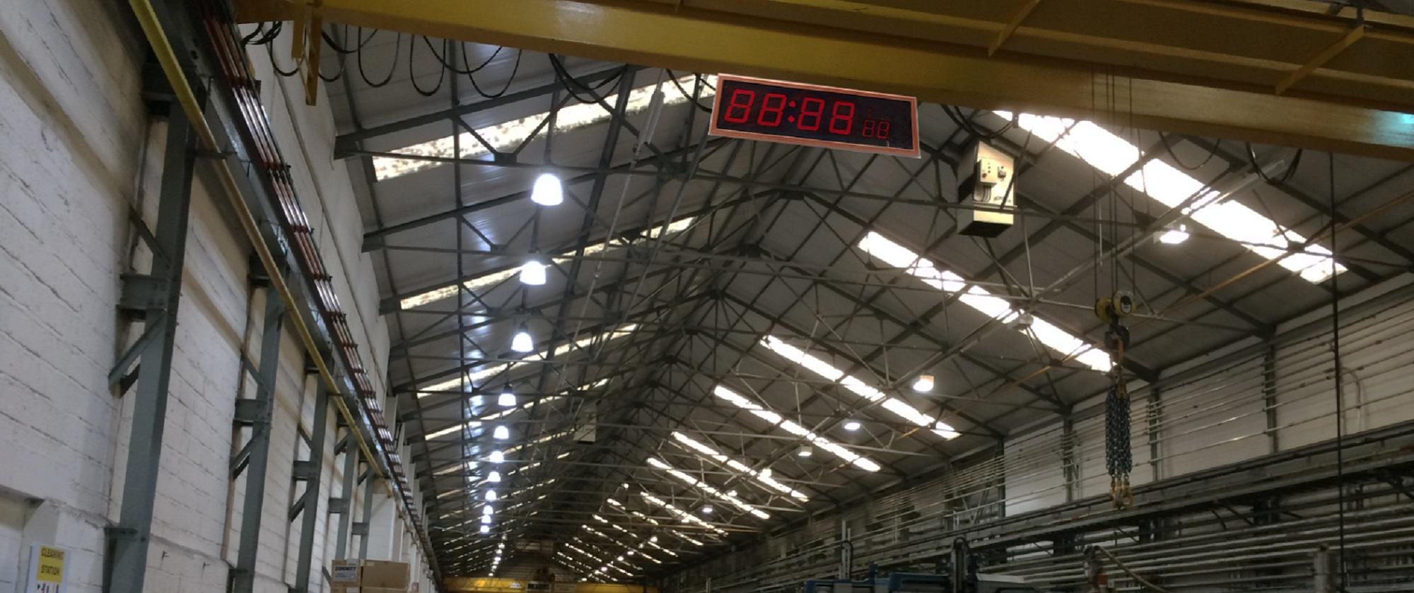 IPBased Industrial Clock